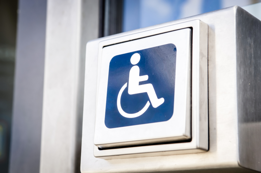 door opener button for disabled people