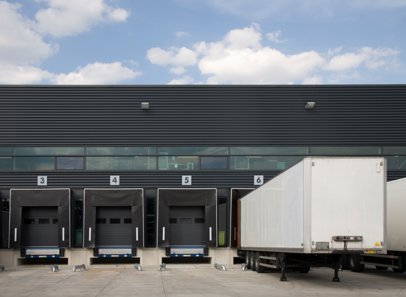 loading dock with trailer